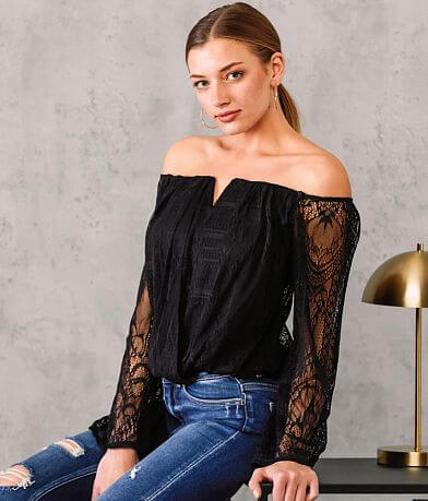 Willow & Root Off The Shoulder Lace Top