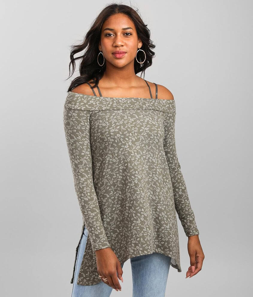 Daytrip Dainty Floral Off The Shoulder Top front view