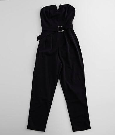 Max + Ash Solid Strapless Jumpsuit