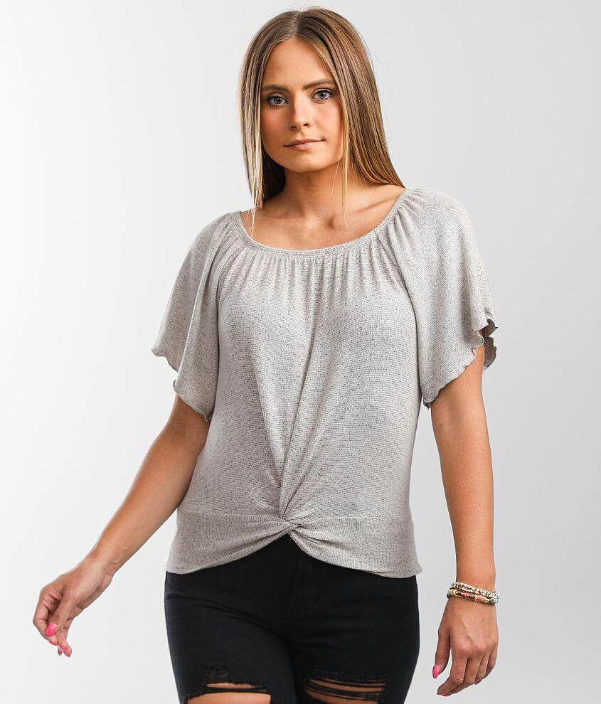 Willow & Root Twisted Front Top front view