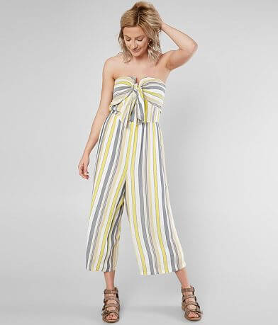 Daytrip Strapless Striped Wide Leg Jumpsuit