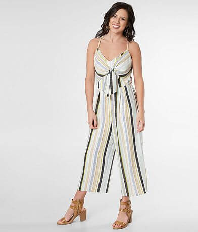 6f0ced93a3 Daytrip Striped Gauze Wide Leg Cropped Jumpsuit