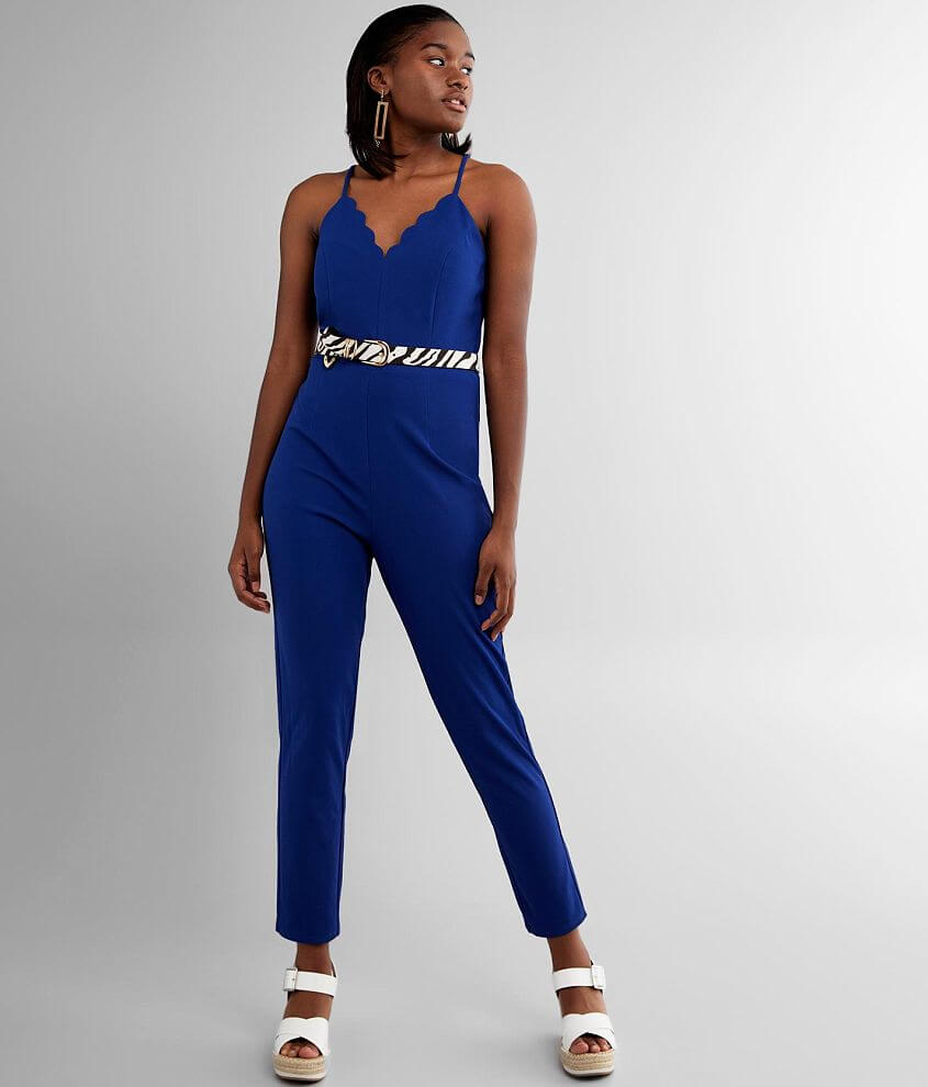Willow & Root Scalloped Jumpsuit front view