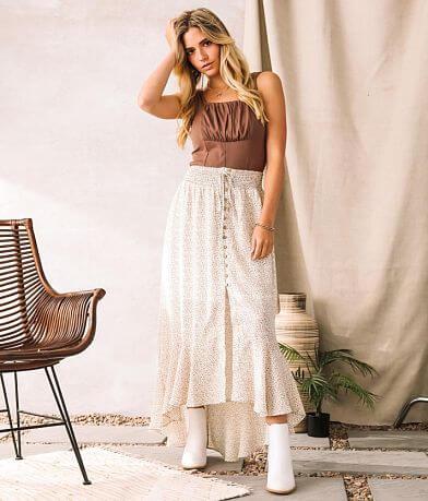 Willow & Root Animal Print Chiffon Maxi Skirt