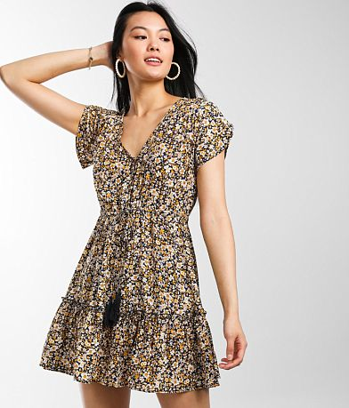 Daytrip Tiered Ditsy Floral Dress