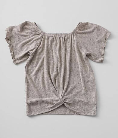 Girls - Willow & Root Brushed Knit Top