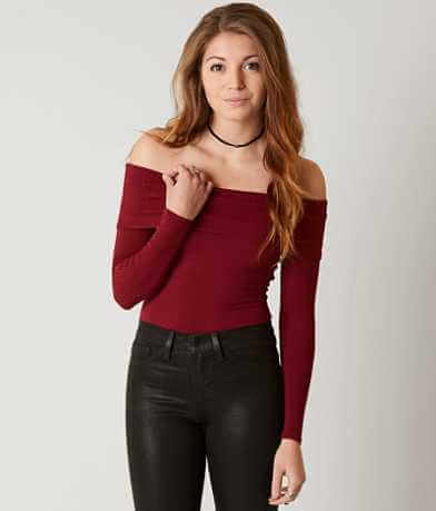 red by BKE Off The Shoulder Bodysuit