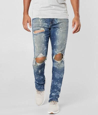 Crysp Denim Dusty Blue Skinny Stretch Jeans