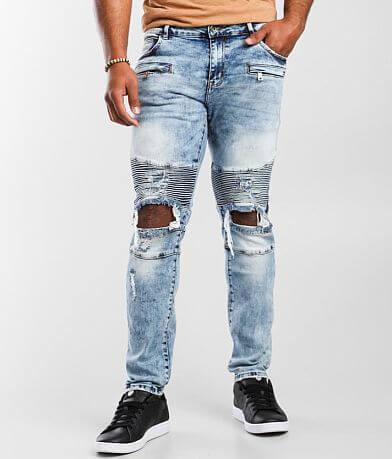 Crysp Denim Elias Moto Skinny Stretch Jean
