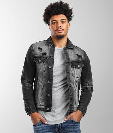 Crysp Denim Distressed Denim Stretch Jacket