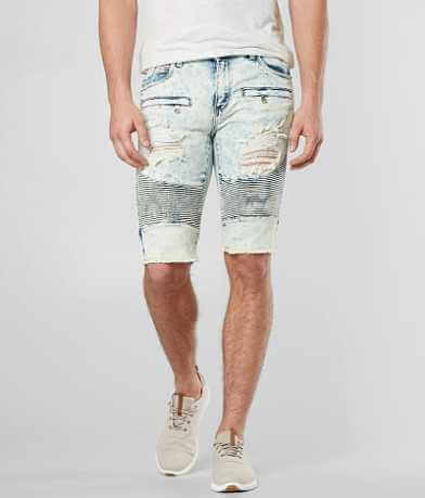 Crysp Denim Van Eyck Biker Skinny Stretch Short
