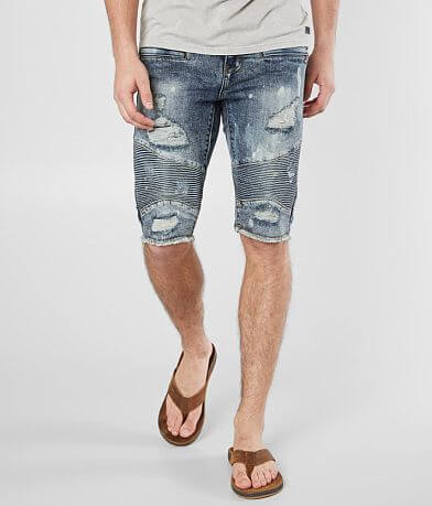 Crysp Denim Rem Moto Stretch Short