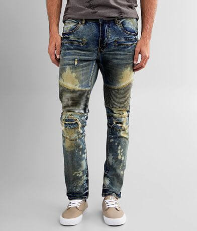 Crysp Denim Heaton Moto Skinny Stretch Jean