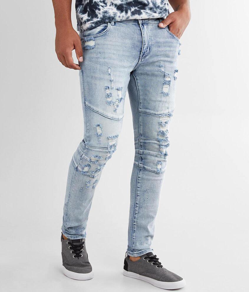 Crysp Denim Ohana Moto Skinny Stretch Jean front view