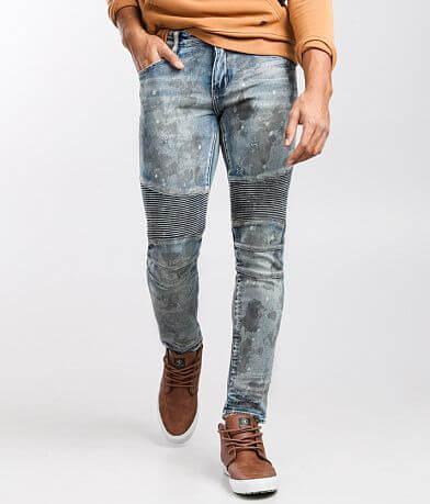 Crysp Denim Ray Moto Skinny Stretch Jean