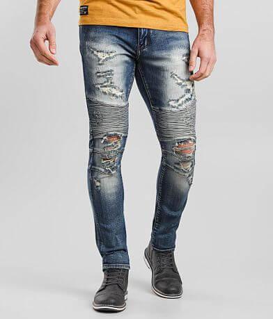 Crysp Denim Frank Moto Skinny Stretch Jean