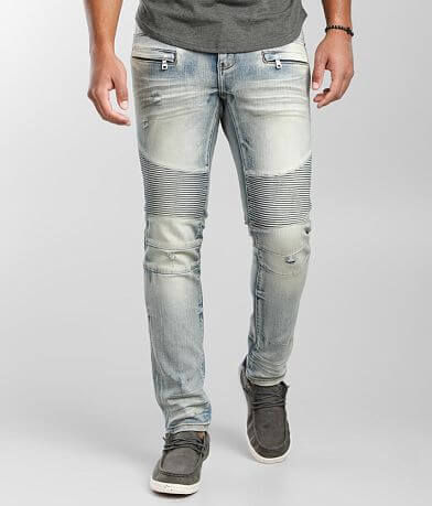 Crysp Denim Devon Moto Skinny Stretch Jean