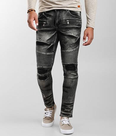 Crysp Denim Ivan Moto Skinny Stretch Jean