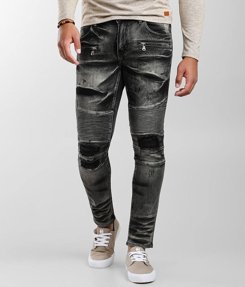 Crysp Denim Ivan Moto Skinny Stretch Jean front view