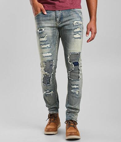 Crysp Denim Rivera Moto Skinny Stretch Jean