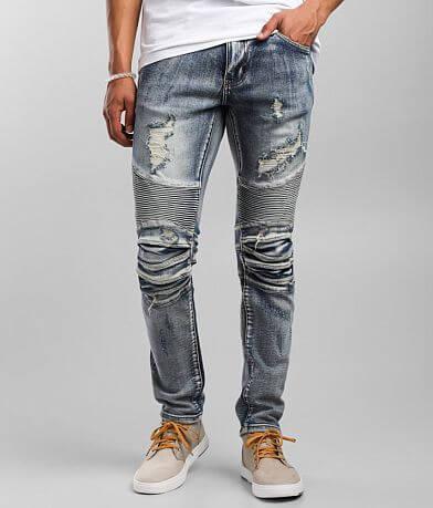 Crysp Denim Manuel Moto Skinny Stretch Jean