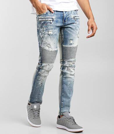Crysp Denim John Moto Skinny Stretch Jean