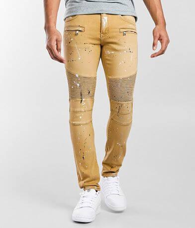 Crysp Denim Ike Moto Skinny Stretch Jean