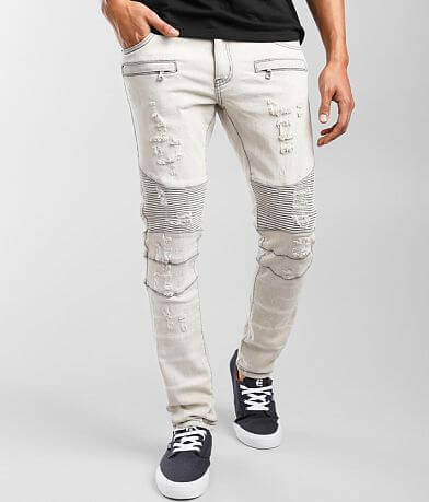 Crysp Denim Thomas Moto Skinny Stretch Jean
