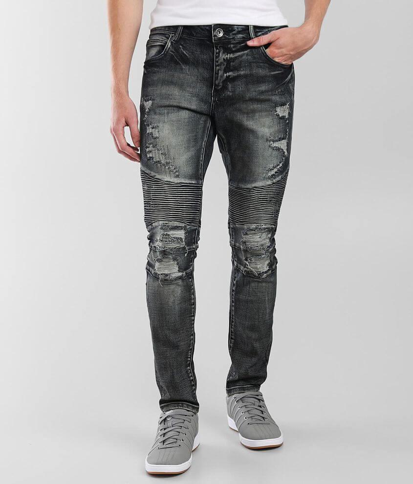 Crysp Denim Vlad Moto Skinny Stretch Jean front view
