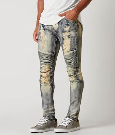 Crysp Denim Biker Skinny Stretch Jean