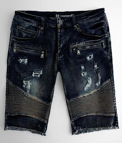 Crysp Denim Dylan Biker Stretch Short