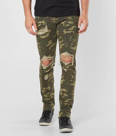 Crysp Denim Watt Ripped Skinny Stretch Jean