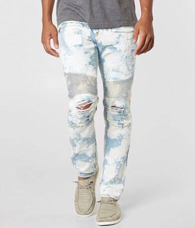 Crysp Denim Klee Moto Biker Skinny Stretch Jean