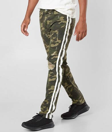 Crysp Denim Miro Camo Skinny Stretch Jean