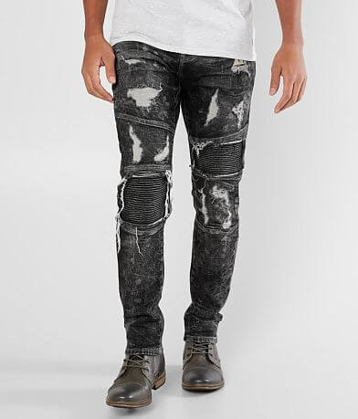 Crysp Denim Kahlo Biker Skinny Stretch Jean