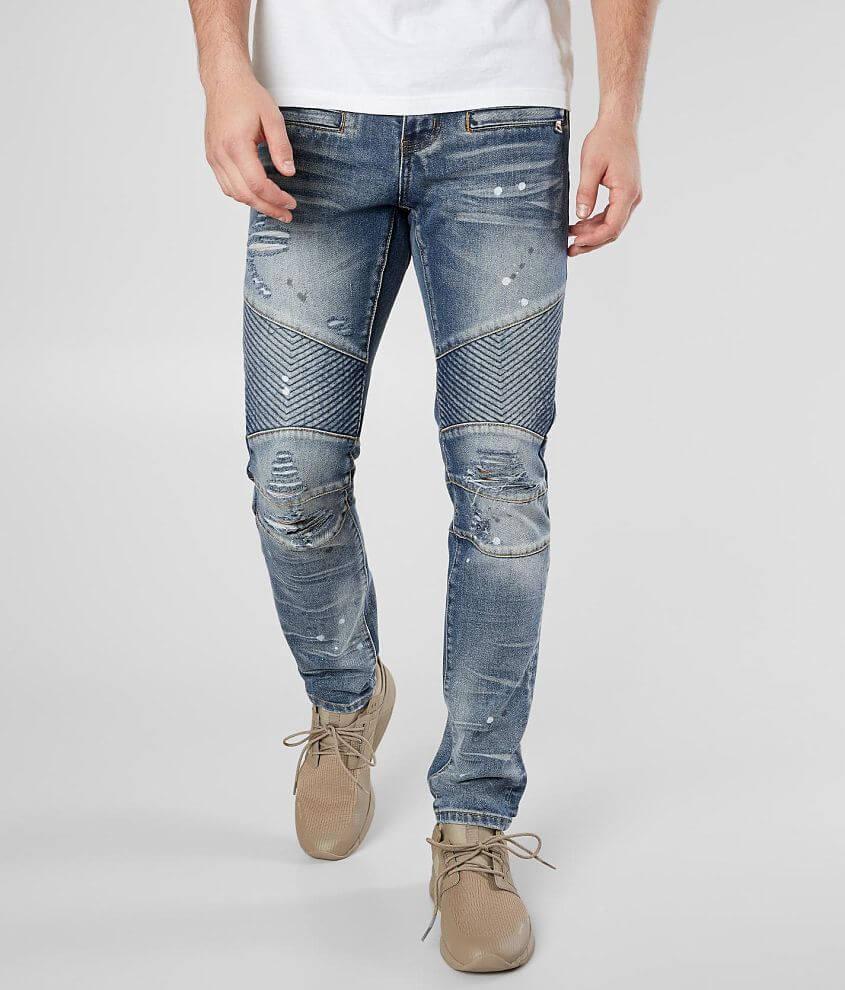 Crysp Denim Changall Moto Skinny Stretch Jean front view