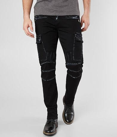 Crysp Denim Utility Moto Skinny Stretch Jean