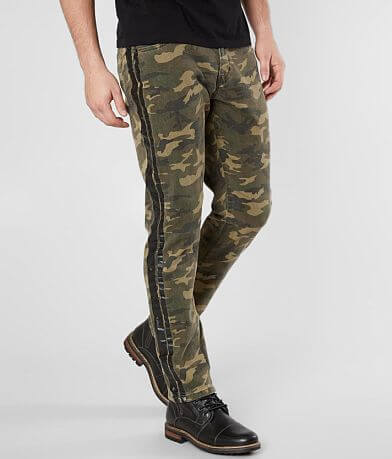 Crysp Denim Basquiat Camo Skinny Stretch Jean