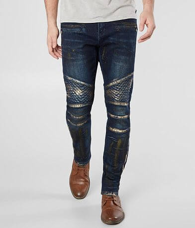 Crysp Denim Gauguin Moto Skinny Stretch Jean