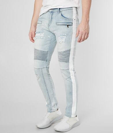 Crysp Denim Duncan Biker Skinny Stretch Jean