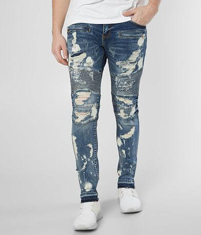 Crysp Denim Chef Biker Skinny Stretch Jean
