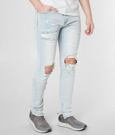 Crysp Denim Mackey Biker Skinny Stretch Jean