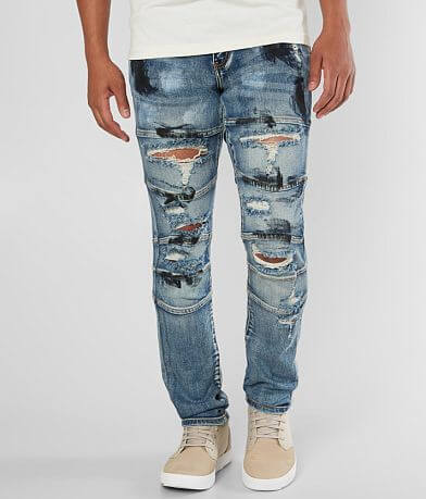 Crysp Denim Ryu Biker Skinny Stretch Jean