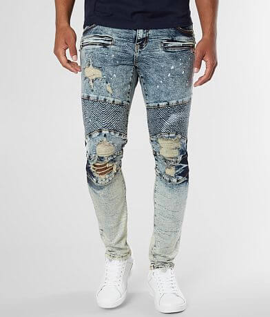 Crysp Denim Sagat Biker Skinny Stretch Jean