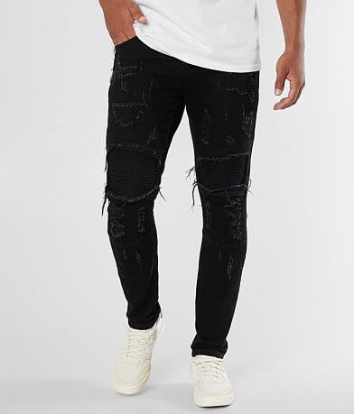 Crysp Denim Rick Biker Skinny Stretch Jean