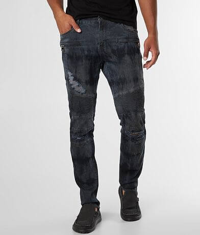 Crysp Denim Jerry Biker Skinny Stretch Jean