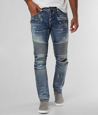 Crysp Denim Wade Biker Skinny Stretch Jean
