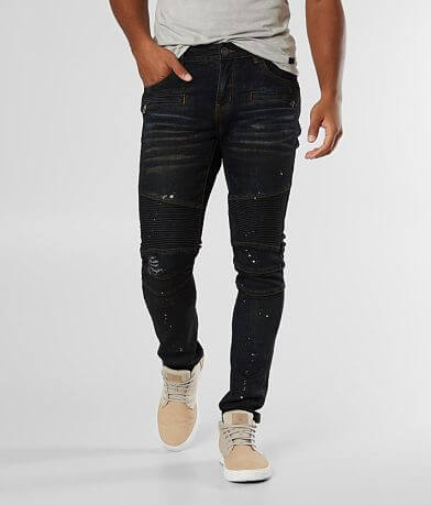 Crysp Denim Theo Biker Skinny Stretch Jean