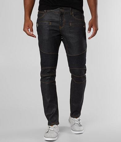 Crysp Denim Ken Biker Skinny Stretch Jean
