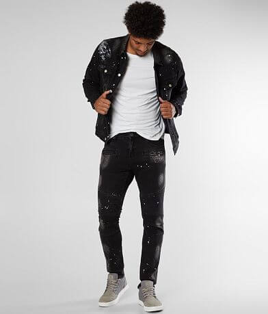 Crysp Denim Landon Biker Skinny Stretch Jean